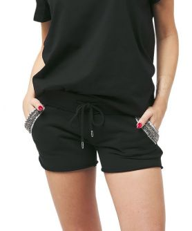 DAPHNE Embellished Sweat Shorts