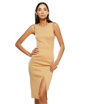 IRIS Sleeveless Front Split Pencil Dress