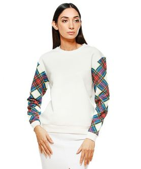 THEA  Scotch Plaid Print Sweatshirt